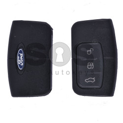 Key Shell (Smart) for Ford Buttons:3 / Blade signature: HU101 / (With Logo)