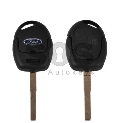 Key Shell (Regular) for Ford Buttons:3 / Blade signature: HU101 / (With Logo)