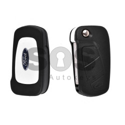 Key Shell (Flip) for Ford KA Buttons:3 / Blade signature: SIP22 / (With Logo)