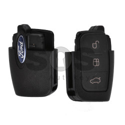 Key Shell (Flip) for Ford / Buttons:3 / (Back Part) / Blade signature: FO21 / HU101 / (With Logo)