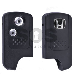 Key Shell (Smart) for Honda Buttons:2 / Blade signature: HON66 / (Old Vision) / Battery Place / (With Logo)