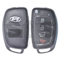 Key Shell (Flip) for Hyundai Buttons:3+1P / Blade signature: HY22 / (With Logo)
