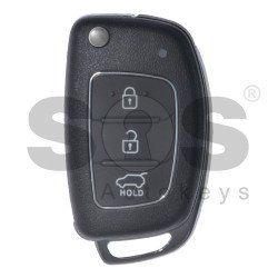 Key Shell (Flip) for Hyundai Buttons:3 / Blade signature: HY22 / (With Logo) / (Brown)