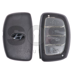 Key Shell (Smart) for Hyundai Buttons:3+1P / Blade signature: HY22 / (With Logo) / With Blade / (Brown)