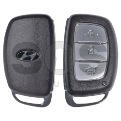 Key Shell (Smart) for Hyundai Buttons:3 / Blade signature: HY22 / (With Logo) / With Blade / (Brown)