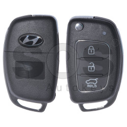 Key Shell (Flip) for Hyundai Buttons:3 / Blade signature: HY22 / (With Logo)