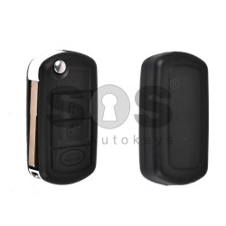 Key Shell (Flip) for LAND ROVER Buttons:3 / Blade signature: HU101 / (With Logo)