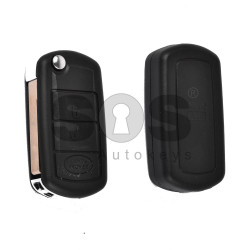 Key Shell (Flip) for LAND ROVER Buttons:3 / Blade signature: HU92 / (With Logo)