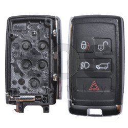 Key Shell (Smart) for Range Rover 2019+ Buttons:4+1 / Blade signature: HU101 / (Place for Logo) / (With Blade)