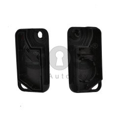 Key Shell (Flip) for Range Rover Buttons:2 / Blade signature: HU58 / (With Logo)