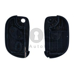 Key Shell (Flip) for Maserati Buttons:3 / Blade signature: SIP22 / (With Logo)
