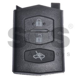 Key Shell (Back Part-Flip) for Mazda Buttons:3 / Blade signature: MA24R / Different Battery Place