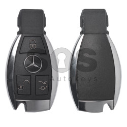 Key Shell (Smart) for Mercedes Buttons:3 / Blade signature: HU64 / (Newest FBS3/FBS4) / (With Logo)