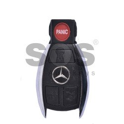 Key Shell (Smart) for Mercedes Buttons:3+1 / Blade signature: HU64 / (Chrome) / (With Logo)