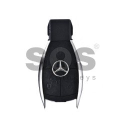 Key Shell (Smart) for Mercedes Buttons:3 / Blade signature: HU64 / (Chrome) / (With Logo)