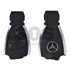 Key Shell (Smart) for Mercedes Buttons:3 / Blade signature: HU64 / (For Black Fish-Silver) / (With Logo)