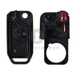 Key Shell (Flip) for Mercedes S-Class W140 Buttons:1 / Blade signature: HU39 / (With Logo)