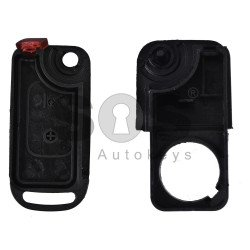 Key Shell (Flip) for Mercedes A-Class Buttons:2 / Blade signature: HU64 / (With Logo)