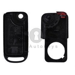Key Shell (Flip) for Mercedes SL 129 Buttons:3 / Blade signature: HU39 / (With Logo)