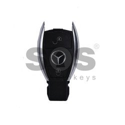 Key Shell (Smart) for Mercedes Buttons:2 / Blade signature: HU64 / (New Vision for the Older Chrome Key) / (With Logo)