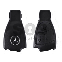 Key Shell (Smart) for Mercedes Buttons:2 / Blade signature: HU64 / (Black Fish-THE BEST QUALITY) / (With Logo)