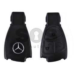 Key Shell (Smart) for Mercedes Buttons:3 / Blade signature: HU64 / (Black Fish-THE BEST QUALITY ) / (With Logo)