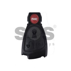 Key Shell (Smart) for Mercedes Buttons:2+1 Panic / Blade signature: HU64 / (Black Fish-THE BEST QUALITY ) / (With Logo)