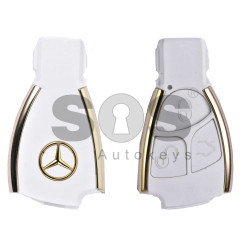 Key Shell (Smart) for Mercedes Buttons:3 / Blade signature: HU64 / (For Black Fish-Gold) / (With Logo)