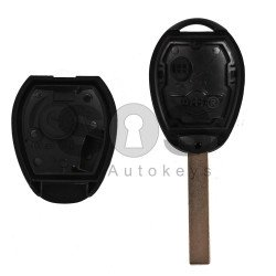 Key Shell (Regular) for Mini Cooper One Buttons:2 / Blade signature: HU92 / (With Logo)