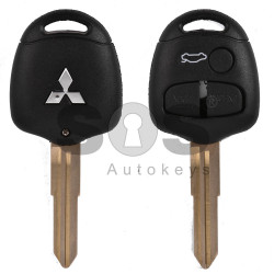 Key Shell (Regular) for Mitsubishi Buttons:3 / Blade signature: MIT7AP / (With Logo)