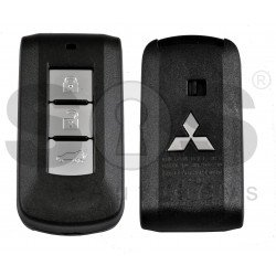 OEM Key Shell (Smart) for MItsubishi OUTLANDER,PAJERO SPORT,MONTEO.L200,PAJERO Buttons:3 / Blade signature: MIT11 / (With Logo)