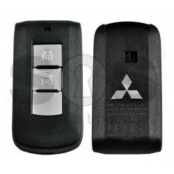 OEM Key Shell (Smart) for MItsubishi OUTLANDER,PAJERO SPORT,MONTEO.L200,PAJERO Buttons:2 / Blade signature: MIT11 / (With Logo)