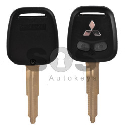 Key Shell (Regular) for Mitsubishi Buttons:2 / Blade signature: MIT11R / (With Logo)