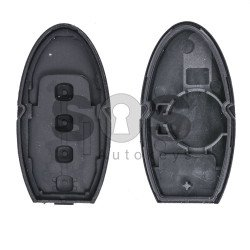 Key Shell (Smart) for Nissan Buttons:3+1 / Blade signature: NSN14 / (With Slot) / (With Logo)