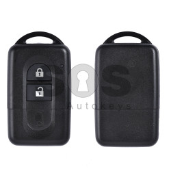 Key Shell (Smart) for Infiniti Buttons:2 / Blade signature: NSN14 / (With Blade)