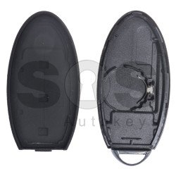 Key Shell (Smart) for Nissan Buttons:3 / Blade signature: NSN14/ Manufacturer: Mitsubishi ALPS / (With Logo) / Without Slot / With Blade
