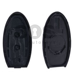 Key Shell (Smart) for Nissan Buttons:3 / Blade signature: NSN14 / (With Logo)