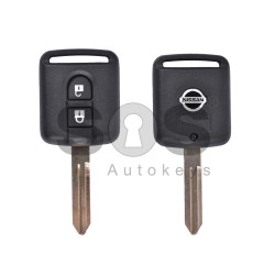 Key Shell (Regular) for Nissan Buttons:2 / Blade signature: NSN14 / (With Logo)