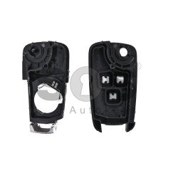 Key Shell (Flip) for Opel Astra/Insignia Buttons:3 / Blade signature: HU100 / (as OEM) / (With Logo)