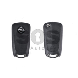 Key Shell (Flip) for Opel Antara Buttons:3 / Blade signature: YM27 / (With Logo)