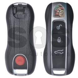 Key Shell (Smart) for Porsche Buttons:3+1P / Blade signature: HU66 / (With Logo) / With Blade