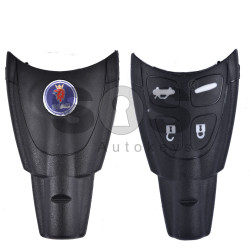 Key Shell (Smart) for Saab Buttons:4 / Blade signature: NE66 / (With Logo)