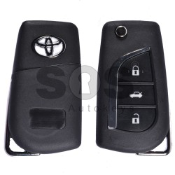 Key Shell (Flip) for Toyota Buttons:3 / Blade signature: VA2 / (With Logo)