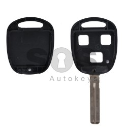 Key Shell (Regular) for Toyota Buttons:3 / Blade signature: TOY40 / (With Logo)