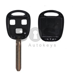 Key Shell (Regular) for Toyota Buttons:3 / Blade signature: TOY43 / (With Logo)