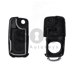 Key Shell (Flip) for VW Touareg Buttons:3 / Blade signature: HU66 / (With Logo)
