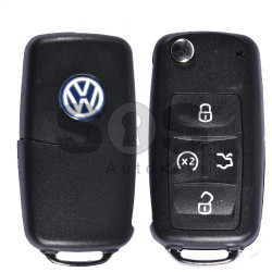 Key Shell (Flip) for VW Sharan (UDS) Buttons:4 / Blade signature: HU66 / (With Logo)