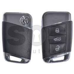 Key Shell (Smart) for VW Buttons:3 / Blade signature: HU162T / (With Logo) / With Blade