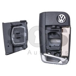 Key Shell (Flip) for VW MQB Buttons:3 / Blade signature: HU162T / (With Logo) / With Blade