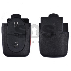 Key Shell (Back Part - Flip) for VAG Buttons: 2+1 Panic / Blade signature: HU66 / Battery: 1620 / (Round)
